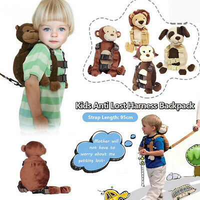 Kid Toddler Safety Walking Harness Anti-lost Strap Backpack Wrist Leash Plush