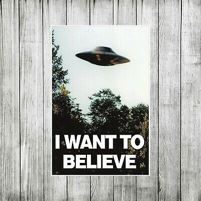 Alien Ufo I Want To Believe Poster 11x17