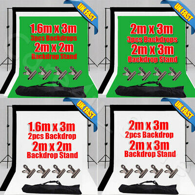 Photo Backdrop Stand Black  White Gray Screen Green Background Crossbar Support