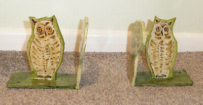 New Handmade & Hand Decorated OWL BOOKENDS {Terracotta/Book Ends/Arts & Crafts}
