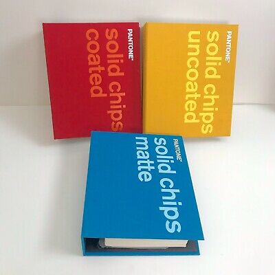Pantone Solid Chips Book Set - Coated Uncoated Matte Excellent