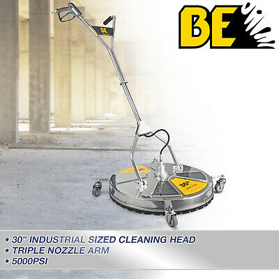 """Pressure Washer Surface Cleaner Rotary Whirlaway 30"""" Flat Stainless Steel"""