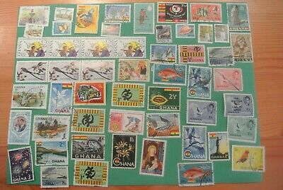 Ghana Assorted 90 Stamps