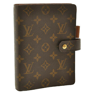 LOUIS VUITTON Monogram Agenda MM Day Planner Cover R20105 LV Auth sa2693