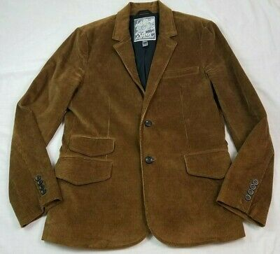 7 For All Mankind Mens Sport Coat Blazer Brown Corduroy Large 40R Cotton