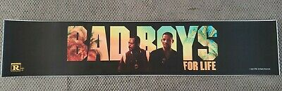Bad Boys For Life 5x25 Movie Theater Mylar Will Smith