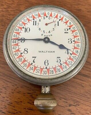 Waltham 8-Day 1926 Telephone Long Distance Calls Timing Clock Watch