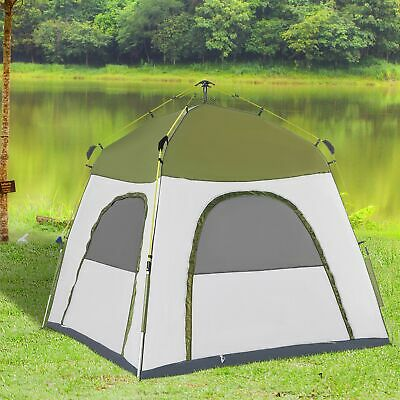 Automatic Camping Tent Instant Pop Up Tent 2-5 Person Backpacking Dome Shelter