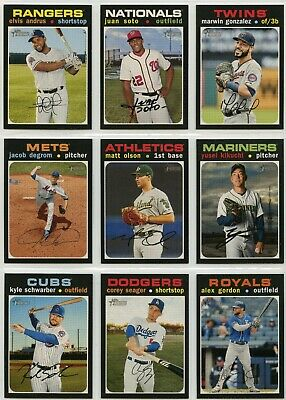 2020 Topps Heritage Short Print (SP) Singles #401-500 - Complete Your Set