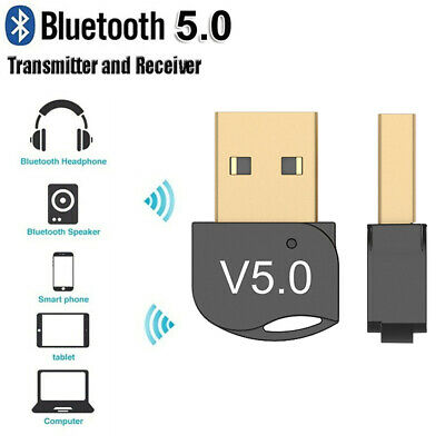 USB 5.0 Bluetooth Adapter High Speed Dongle Wireless For PC Windows Computer TV