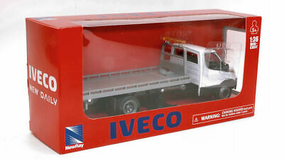 Iveco Daily Bianco C/ Pianale 1:36 Model NEW RAY