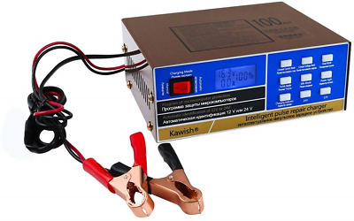 Full Automatic Car Battery Charger 12V/24V 10Amp Intelligent Pulse Repair Truck
