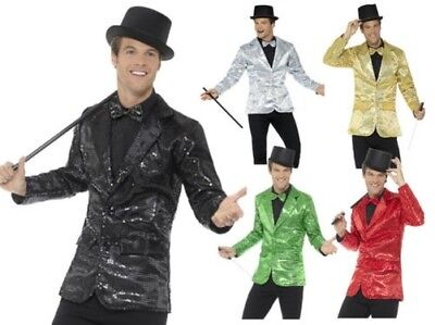 Adults Sequin Jacket Stag Night Circus Ringmaster Fancy Dress Accessory