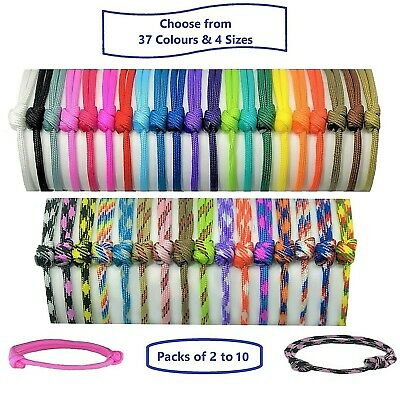 Paracord Whelping ID Collars; Adjustable Puppy/Kitten Bands;Colour/Size Choice
