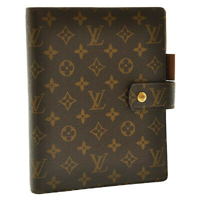 LOUIS VUITTON Monogram Agenda GM Day Planner Cover R20006 LV Auth sa984