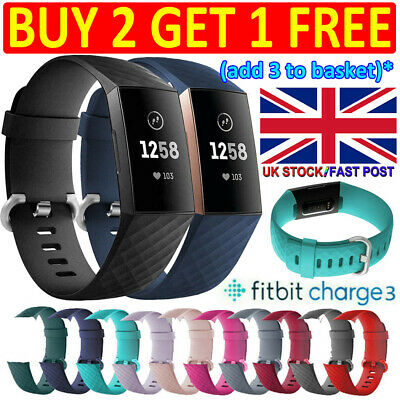 Fitbit Charge 3 Wristbands Wrist Straps, Best Replacement Accessory Watch Bands^