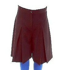 Girls Brown Waist Adjustable Cullottes with Zip Front & Top Button (from Pex).