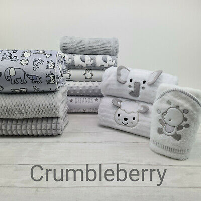 Baby Boy/Girls Plush Fleece Blanket Collection. Ideal Gift, Pram,Crib, Car Seat.