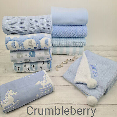 Baby Boy Plush Fleece Blanket Collection. Ideal as Gift, Pram,Crib,Car Seat. New