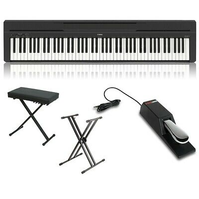 Yamaha P-45 88-Key Weighted Action Digital Piano Packages Black Home Package