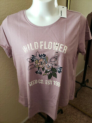 """Women's NWT SONOMA Goods For Life Size XXL Lavender """"Wildflower"""" Scoop Neck"""