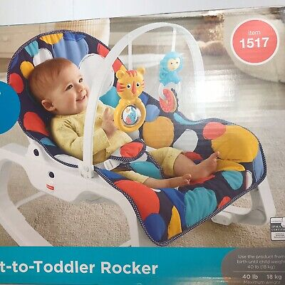 Fisher-Price Infant-to-Toddler Rocker Portable Baby Seat Calming Vibrations