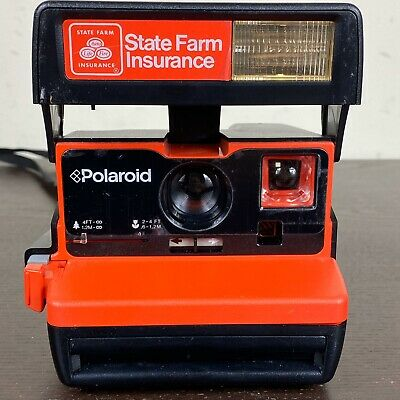 Polaroid 600 Business Edition State Farm Insurance Instant Film Camera TESTED!!
