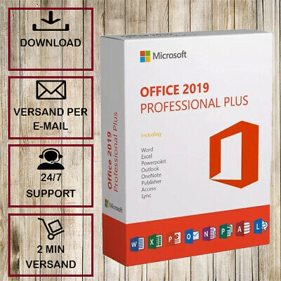 Office 2019/2016/2013/2010 Professional Plus (Pro Plus) 32&64 Bits - per email