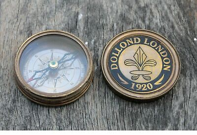 Nautical Dollond London Working Poem Compass Maritime Vintage Royal Navy Compass