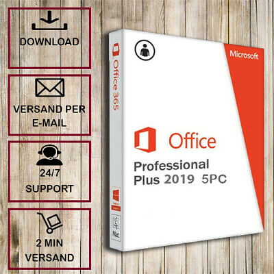 Office 2016/2019 Professional Plus (Pro Plus) - 1-5PC - 32&64 Bits - per email