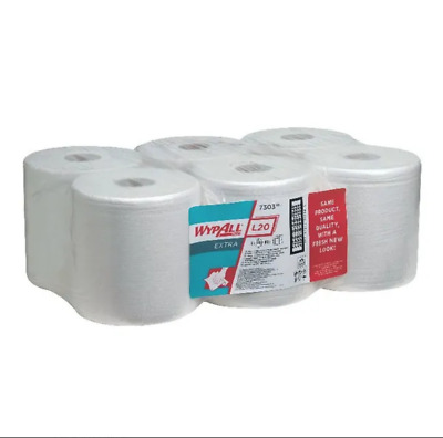Wypall 7303 L30 EXTRA WIPERS C/ FEED ROLL WHITE (6-ROLLS) Free 24h Deliver