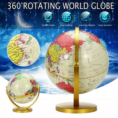 360° Rotating Ocean World Globe Earth Map Geography Education Toy Desktop Gift