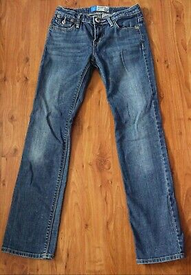 Gap Kids Blue Girl Jeans Straight Leg Used 10-11 Years Regular Normal Great Cond