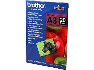 Brother Glossy Photo Paper A3 Pk20 NEW