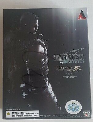 Play Arts Kai Final Fantasy VII Remake Barret Wallace FF7 Statue Authentic 30th
