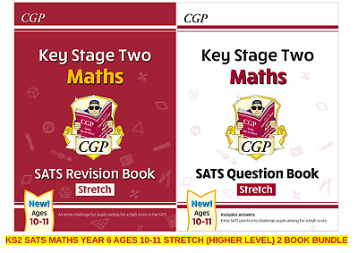 Brand New Ks2 Sats Stretch Yr 6 Ages 10-11 Maths Revision & Question Book Bundle