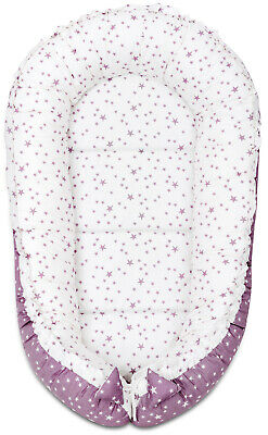 Sleepyhead Lilac And Purple Stars Baby Nest Bed Newborn Pod Sleeping Baby Bed