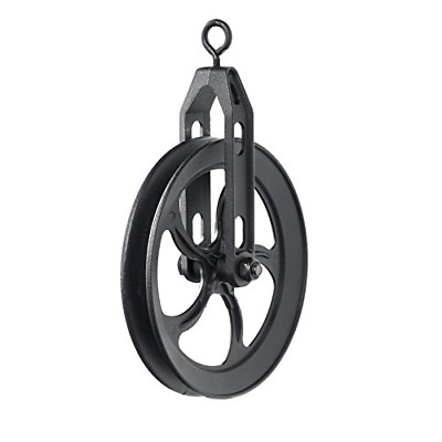 Rustic State Vintage Rustic Industrial Look Medium Wheel Farm Pulley for Custom