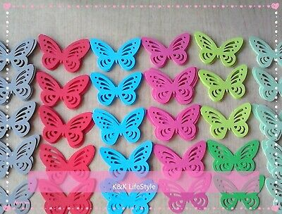 50 pcs paper punch cutting Butterflies 5 color comb - craft , scriptbook or DIY