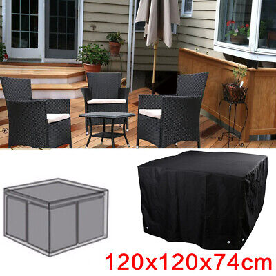 Outdoor Cover Garden Furniture Waterproof Patio Rattan Table Chair Cube Set S