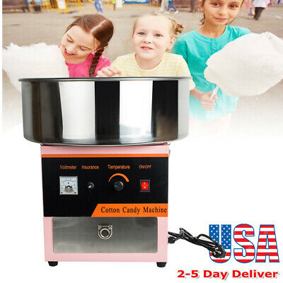 US STOCK Electric Cotton Candy Machine Floss Maker Commercial Carnival Party