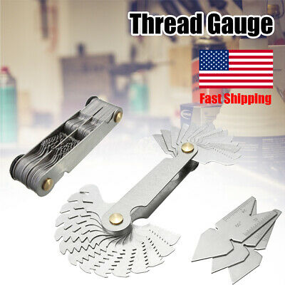 "ENGLISH METRIC SCREW PITCH GAGE 4-56/"" 0.5-6MM 28 BLADES"