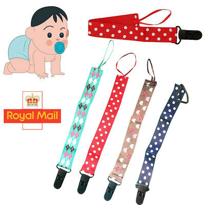 SPIRIUS SET of Dummys Clips Holder Strap Soother Pacifier chain boys girls baby