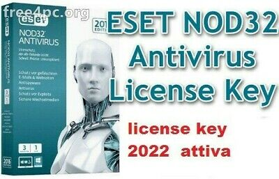 ESET NOD32 ANTIVIRUS 2020  2 pc 2 ANNI  license key   2022