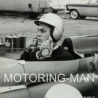 Steve Mcqueen 4 Photographs Lola T70 Early Usa Racing Le Mans 24 Film