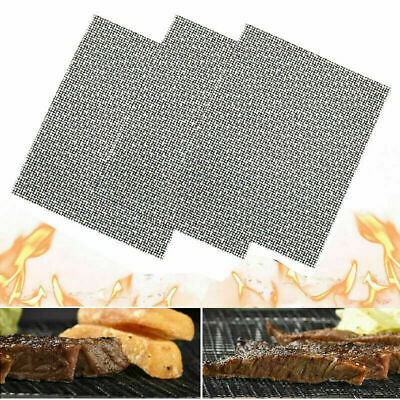 BBQ Grill Mesh Mat Teflon Reusable Sheet Resistant Non-Stick Barbecue Bake Meat