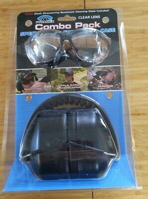 New Pyramex Gray Lens Combo Pack Spectacles  Ear Muffs  Case