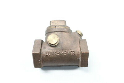 Lukenheimer Brass Swing Gate Check Valve 1in Npt 300