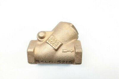 Milwaukee Brass Swing Gate Check Valve 1in Npt 300