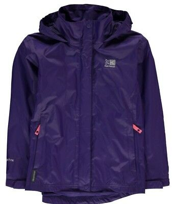 KARRIMOR Girls Sierra Waterproof Jacket Navy Blue Age 9-10 Years BNWT
